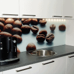 Bedruckte Küchenrückwand