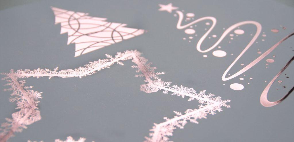 Folienveredelung Weihnachtsmotiv