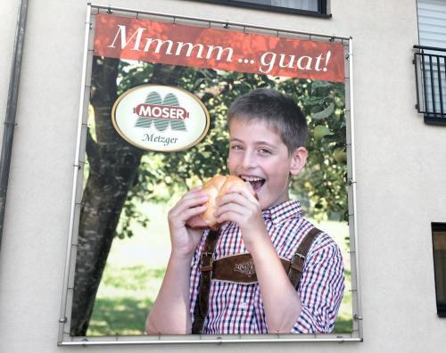 Moser XXL-Werbung